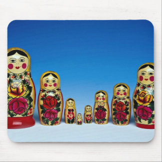 Traditional painted Russian doll set Mouse Pad