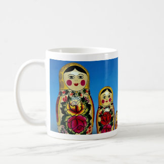 Traditional painted Russian doll set Coffee Mugs