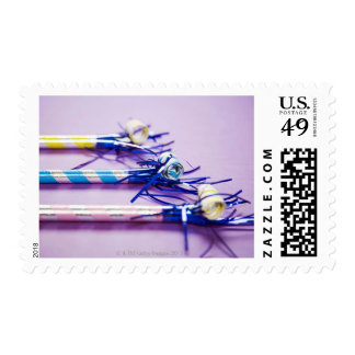 Traditional party blowers postage stamp