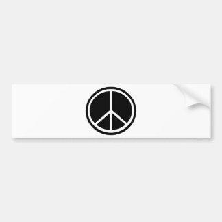 Traditional peace symbol car bumper sticker