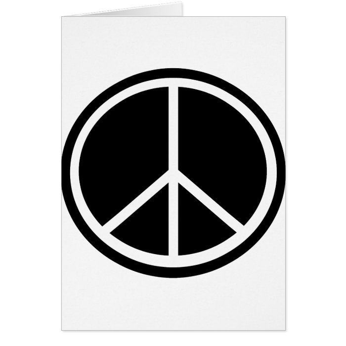 Traditional peace symbol card