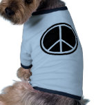 Traditional peace symbol doggie shirt