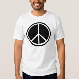 Traditional peace symbol tee shirt