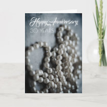 Traditional Pearl 30th Anniversary Card