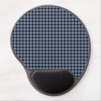 Traditional Plaid Black White and Blue Gel Mouse Mats