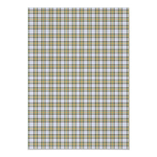 Traditional Plaid Green Yellow and White 5x7 Paper Invitation Card