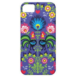 Traditional Polish floral embroidery with roosters iPhone SE/5/5s Case