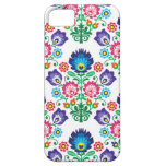 Traditional Polish floral folk embroidery pattern iPhone 5 Covers