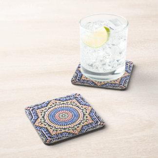 Traditional Portuguese Azulejo Tile Pattern Beverage Coaster