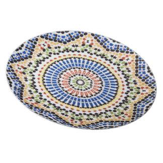 Traditional Portuguese Azulejo Tile Pattern Dinner Plate
