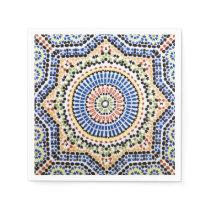 Traditional Portuguese Azulejo Tile Pattern Napkin