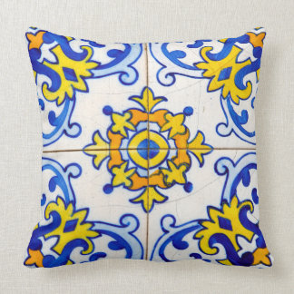 Traditional Portuguese Azulejo tile Throw Pillow