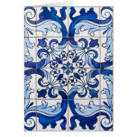 Traditional Portuguese Azulejo Tiles Card