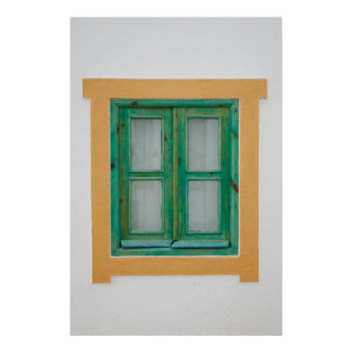 Traditional Portuguese window Poster