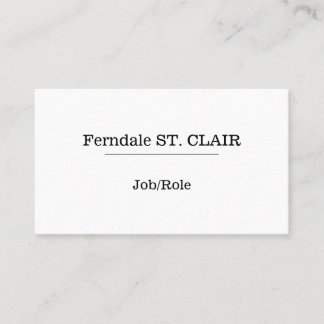 Traditional Professional Business Card