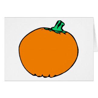Traditional Pumpkin Card