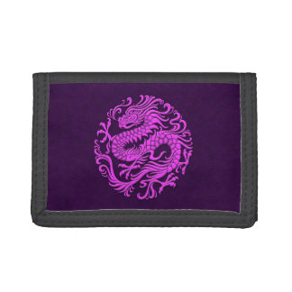 Traditional Purple Chinese Dragon Circle Wallet