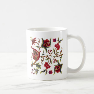 Traditional Queen Anne Jacobean Embroidery Coffee Mug