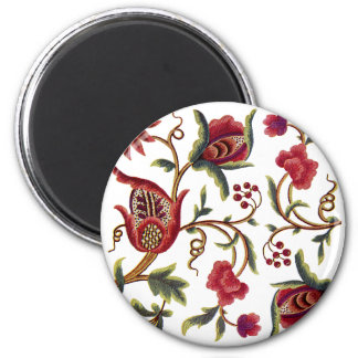 Traditional Queen Anne Jacobean Embroidery Magnet