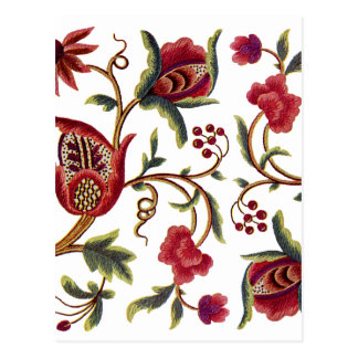 Traditional Queen Anne Jacobean Embroidery Postcard