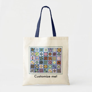 """Traditional Quilt #2"" Tote Bag"