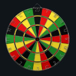 "Traditional Rasta Dartboard<br><div class=""desc"">The classic dartboard design in green,  yellow,  and red.</div>"
