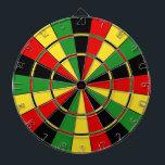 "Traditional Rasta Dartboard<br><div class=""desc"">The classic dartboard design in green,  yellow,  and red.</div>"