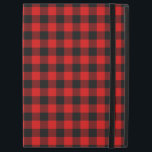 "Traditional Red Black Buffalo Check Plaid Pattern iPad Pro 12.9&quot; Case<br><div class=""desc"">Beautiful contemporary red and black checkered tartan pattern. Ornate,  funky,  modern and whimsical hipster design for the artistic or artsy hip trend setter,  vintage retro,  nouveau deco art style or abstract graphic digital geometric motif lover.</div>"