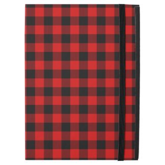 "Traditional Red Black Buffalo Check Plaid Pattern iPad Pro 12.9"" Case"