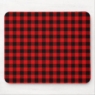 Traditional Red Black Buffalo Check Plaid Pattern Mouse Pad