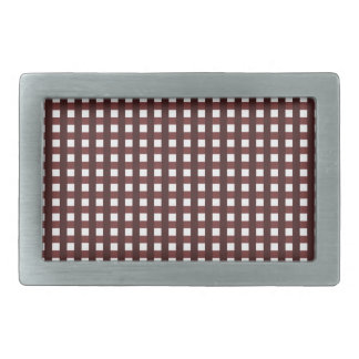 Traditional red chequered pattern, worker clothing belt buckle