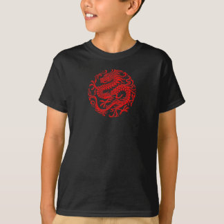 Traditional Red Chinese Dragon Circle T-Shirt