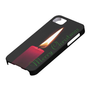 Traditional Red Christmas Candle Burning iPhone SE/5/5s Case