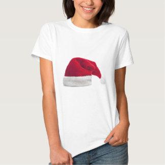 Traditional red santa claus hat shirt