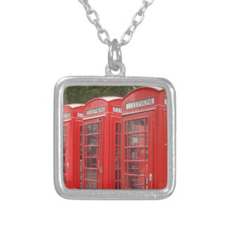Traditional Red Telephone Box London Necklaces