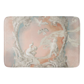 Traditional Rococo Baroque Angel Cherubs Vintage Bathroom Mat