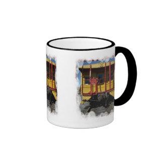Traditional rolling stock ringer coffee mug
