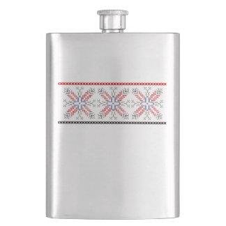 Traditional Romanian folk art motifs  Romania 1 Flask