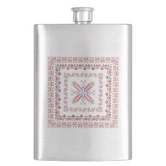 Traditional Romanian folk art motifs  Romania 5 Flask