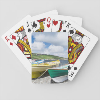 Traditional rowboats playing cards