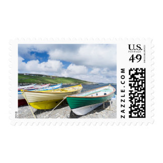 Traditional rowboats postage