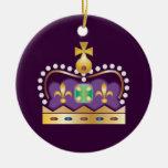 Traditional Royal Crown Christmas Ornament