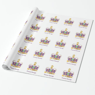 Traditional Royal Crown Gift Wrap Paper