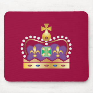 Traditional Royal Crown Mouse Pad