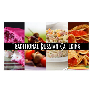 Traditional Russian Catering  Service Occasions Double-Sided Standard Business Cards (Pack Of 100)