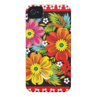 Traditional Russian Flowers Art iPhone Case