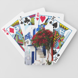 Traditional Rustic White Washed Greek House Mykano Bicycle Playing Cards