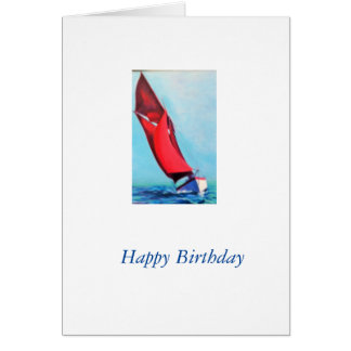 Traditional sail boat card