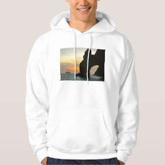 Traditional Sailboat At Sunset,Cabo Rock Arches Hoodie
