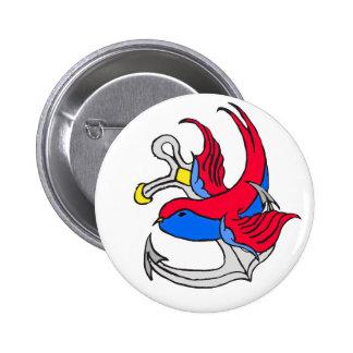 Traditional Sailor Tattoo design 2 Inch Round Button